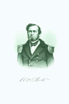 Engraved Portrait of Com. Andrew H. Foote. J. C. Buttre