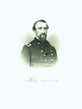 Engraved Portrait of Brig. Gen. John McNeil. J. C. Buttre