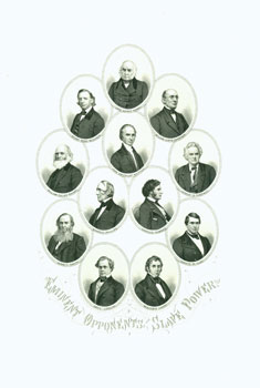 Engraved Portrait of Eminent Opponents of the Slave Power. J. C. Buttre
