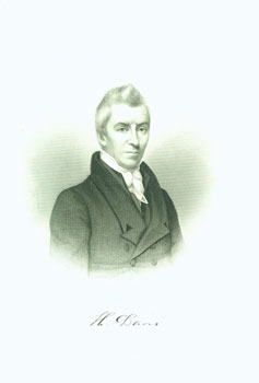 Engraved Portrait of Rev. Henry Davis. D. D, Second President of Hamilton College. J. C. Buttre