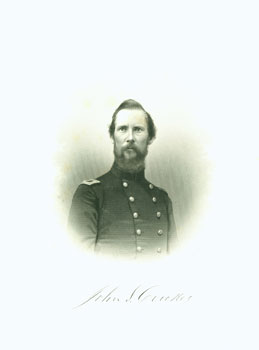 Engraved Portrait of Col. John S. Crocker. J. C. Buttre