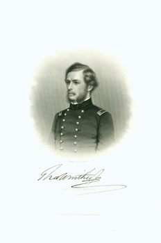 Engraved Portrait of Maj. Theodore Winthrop. J. C. Buttre