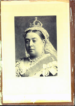 Engraving of Queen Victoria. Alexander Bassano, photo