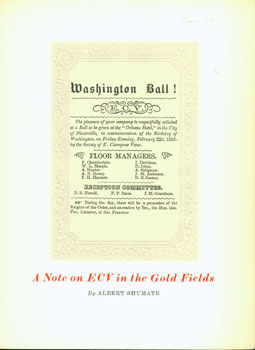 A Note On ECV in the Gold Fields. Albert Shumate, Lawton Kennedy, print