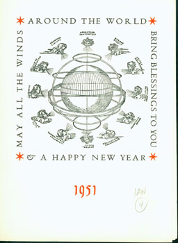 May All The Winds Around the WorldBring Blessings to You & Happy New Year 1951. Francis Farquhar,...