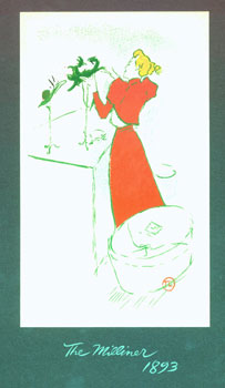 8 Rare Sketches by Toulouse-Lautrec. Interpretations in Silk Screen by the Pied Piper Press....