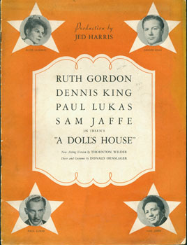 A Doll's House. New Acting Version by Thornton Wilder. Henrik Ibsen, Thornton Wilder, Jed Harris,...
