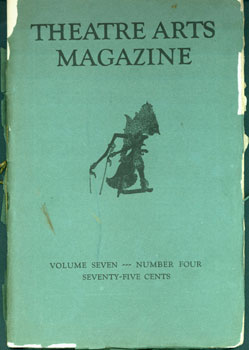 Theatre Arts Magazine. Volume VII, Number 4, October 1923. Detroit Society of Arts and Crafts