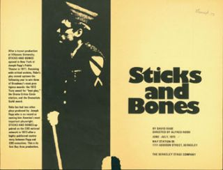 Sticks And Bones. Berkeley Stage Company, David Rabe, Alfred Rossi, dir