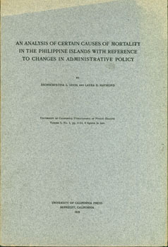 An Analysis of Certain Causes of Mortality in the Phillipine Islands with Reference to Changes in...