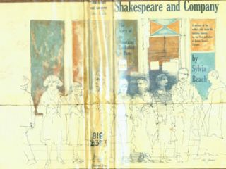 Dust Jacket For Shakespeare And Company. The Story of an American Bookshop in Paris. Sylvia...
