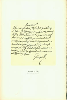 George II, 1757; facsimile of manuscript. From Universal Classic Manuscripts: Facsimiles From...