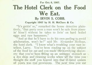 The Hotel Clerk On the Food We Eat. Irvin S. Cobb