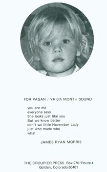 For Pagan/Yr 6th Month Sound. Croupier Press, James Ryan Morris