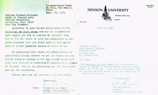 TLS Brasmer to Moser, dated April 14, 1969. Also carbon copies of two typed letters from Moser to...