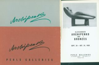 Exhibition Catalogues for Alexander Archipenko shows at Perls Gallery, 1957-1962. Alexander...