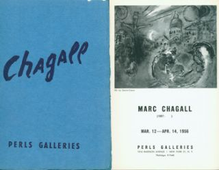 Exhibition Catalogues for Marc Chagall shows at Perls Gallery, 1956 & 1965. Marc Chagall: March...