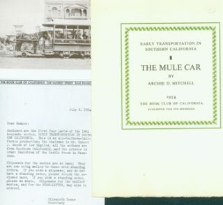 Early Transportation In Southern California. Complete Set of Finely Printed (12) Keepsakes. Book...