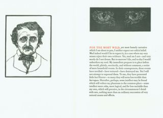 Prospectus for The Black Cat. Cheloniidae Press, Edgar Allan Poe, Alan James Robinson, sculpt