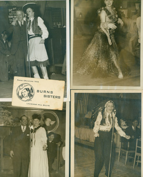 Photographs of Ginger Burns for her Radio Show. Early 20th Century American Photographer
