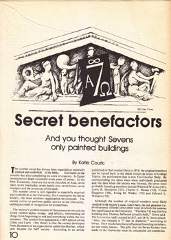 """Secret Benefactors: And You Thought Sevens Only Painted Buildings."" Katie Couric."