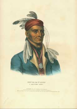 Shin-Ga-Ba-W'ossin, Chippeway Chief from History of the Indian Tribes of North America. (First...