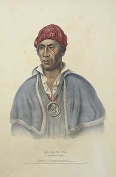 Qua-Ta-Wa-Pea, a Shawanoe Chief from History of the Indian Tribes of North America. (First...
