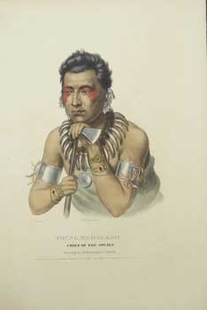 Young Ma-Has-Kah, Chief of the Ioways from History of the Indian Tribes of North America. (First...