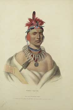 Chon-Ca-Pe [Chono Cape, an Ottoe chief ] from History of the Indian Tribes of North America....