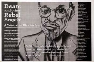 Beats and other Rebel Angels: A Tribute to Allen Ginsberg. Exhibition Poster. Francesco Clemente,...