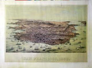 Bird's eye View of the City and County of San Francisco, 1868. W. Vallance Gray, C. B. Gifford,...