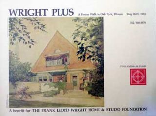 Poster for A House Walk in Oak Park, Illinois. Frank Lloyd Wright