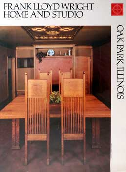 Poster of the Dining Room inThe Frank Lloyd Wright Home & Studio in Oak Park, Illinois. Frank...