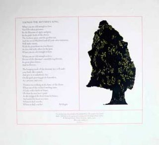 Thomas the Rhymer's Song [Broadside]. Ted Hughes, Leonard Baskin, poet, artist