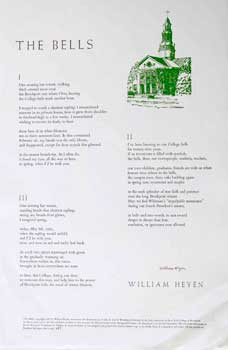 The Bells [Broadside]. William Heyen, Richard Incardona, poet, artist
