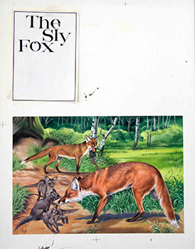 A Family of Foxes: The Sly Fox. Denys Ovenden, F. Z. S., D W