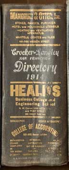 Crocker-Langley San Francisco Directory. 1914. Original Edition. Crocker-Langley
