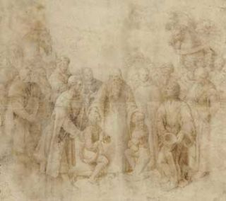 Art Dealers purporting to sell each other Raffaello Sanzio, called Raphael's (1483-1520) Saint...