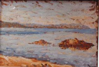 "Art Dealers endeavoring to sell Paul Signac: ""Saint-Tropez. Calme."" Stuart Pasquale Iannetti..."