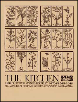The Kitchen (Goines, no. 1) [Poster]. David Lance Goines