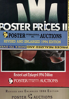 Poster Prices. Vols. II, III and IV. Prices Realized and Index. Original editions. Jack Rennert