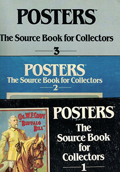Posters. Source Books for Collectors. Vols. 1, 2, 3. Original editions. Jack Rennert