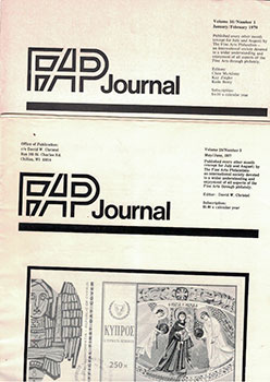 Journal of the Fine Arts Philatelist. Vols. 16-23. Clare McAlister, Kay Ziegler, Katie Berry,...