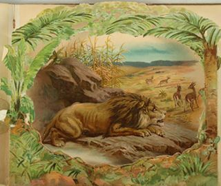 Wild Animal Stories, a Panorama Picture Book. First edition. C. Manville Fenn, Introduction