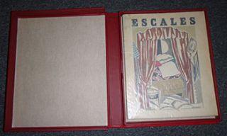 Escales. First edition. Signed. Unique copy with original art by André Lhote .