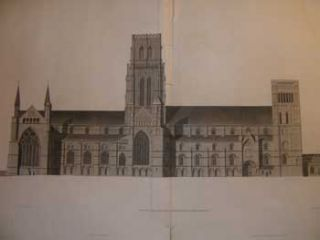 Durham Cathedral. First edition engravings. John Carter, James Basire, artist -, engraver