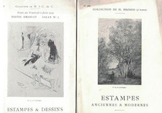 Group of 11 Print (Estampes) auctions catalogues for which Loys Delteil was the Expert. Loys Delteil