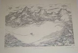 Colline. Original etching. Georges Anulf