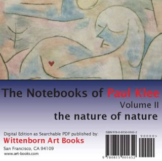 Paul Klee Notebooks, Vol. 2: The Nature of Nature CD-ROM. Paul Klee