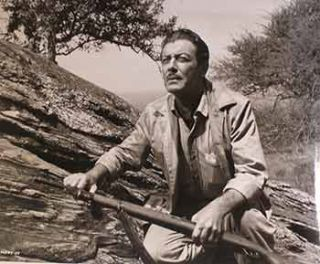 "Robert Taylor in ""The Killers of Kilimanjaro"", 1959. Columbia Pictures"